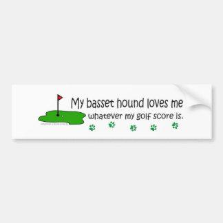 BassetHound Car Bumper Sticker