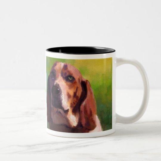 bassethound Two-Tone coffee mug