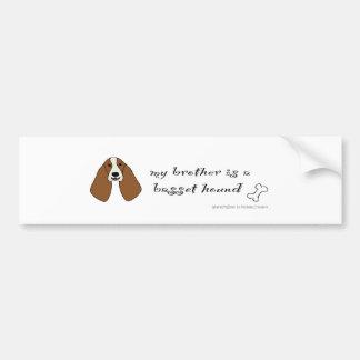 BassetHoundBrother Bumper Sticker