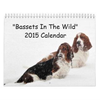 """Bassets In The Wild"" series 2015 calendar"
