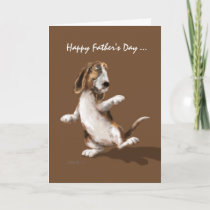 Bassett Boogie - Father's Day card