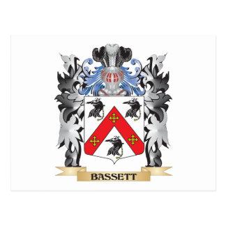 Bassett Coat of Arms - Family Crest Postcard