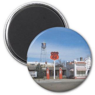 Bassett de la gasolinera, Nebraska, los E.E.U.U. Imán Redondo 5 Cm