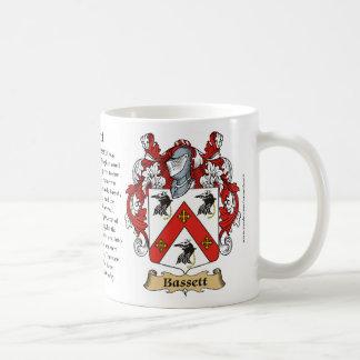 Bassett, el origen, el significado y el escudo taza