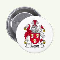 Bassett Family Crest Button