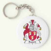 Bassett Family Crest Keychain