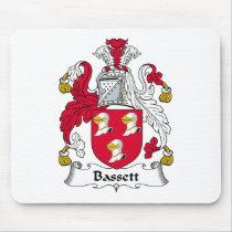 Bassett Family Crest Mousepad