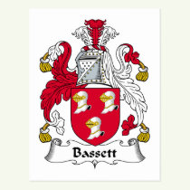 Bassett Family Crest Postcard