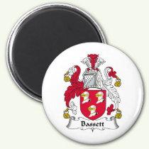 Bassett Family Crest Magnet