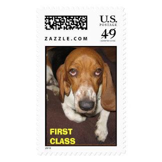 Bassett FIRST CLASS Stamp