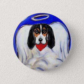 Bassett Hound Angel Button