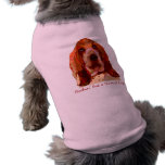 Bassett Hound Dog Sweater  in Bright Colors Doggie T Shirt