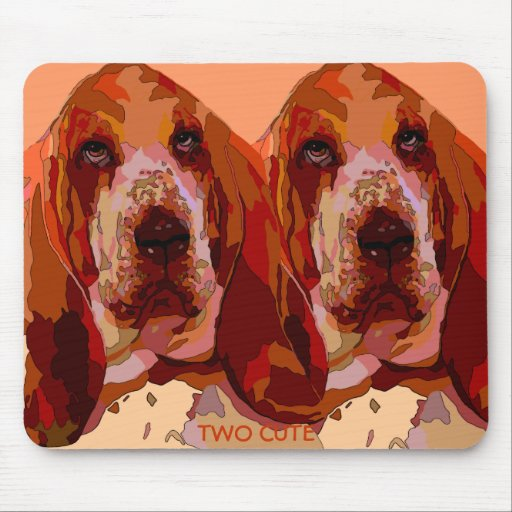 Bassett Hound in Bright Colors Mouse Pad