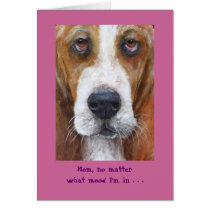 Bassett hound Mother's Day Card