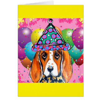Bassett Hound  Party Dog Card