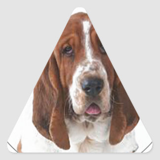 """""""Bassett Hound"""" Triangle Sticker"""
