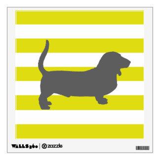 bassett hound wall sticker