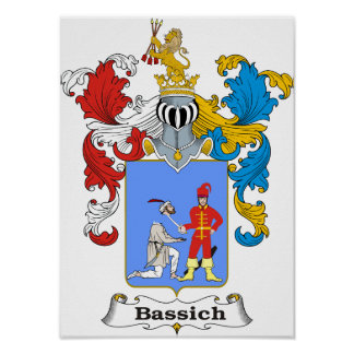"""Bassich Family Hungarian Coat of Arms 10x15"""" Print"""