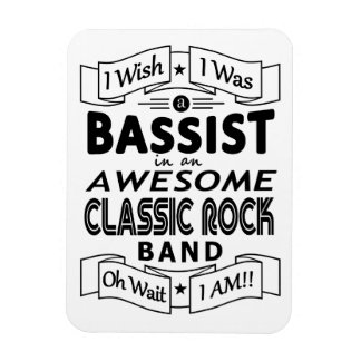 BASSIST awesome classic rock band (blk) Magnet