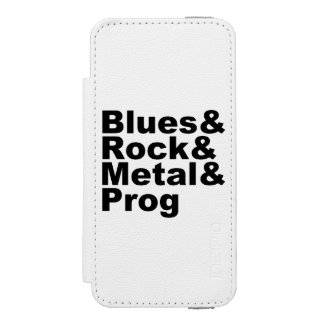BASSIST awesome classic rock band (blk) Wallet Case For iPhone SE/5/5s