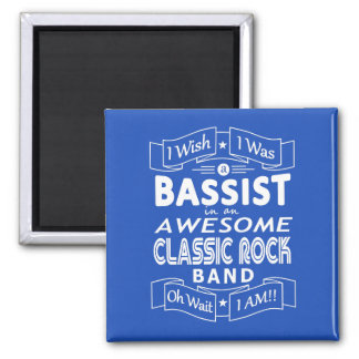 BASSIST awesome classic rock band (wht) Magnet