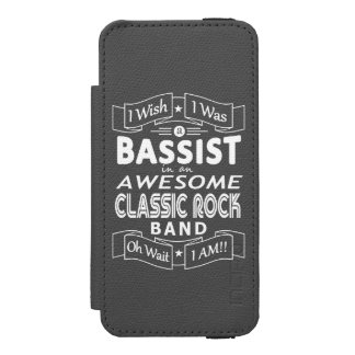 BASSIST awesome classic rock band (wht) Wallet Case For iPhone SE/5/5s