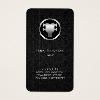 Bassist Bass Headstock Black Grunge Business Card