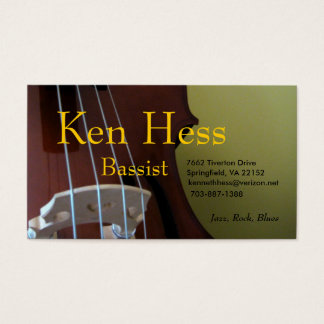 Bassist Business Card