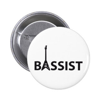 Bassist Pinback Buttons