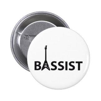 Bassist 2 Inch Round Button