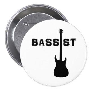 Bassist 3 Inch Round Button