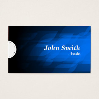 Bassist - Modern Dark Blue Business Card