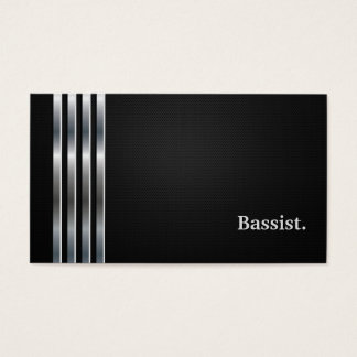Bassist Professional Black Silver Business Card