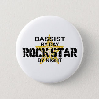 Bassist Rock Star by Night Pinback Button