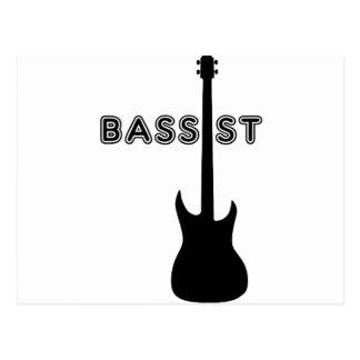 Bassist Silhouette Postcard