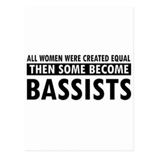 Bassists music designs postcard