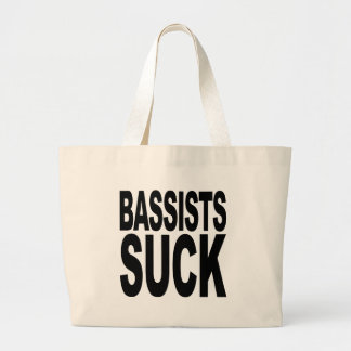 Bassists Suck Large Tote Bag