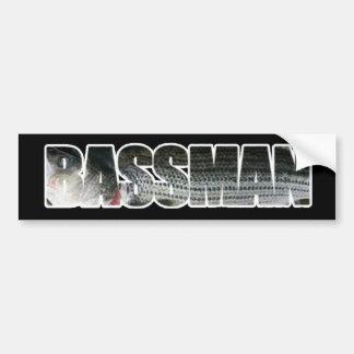 Bassman Bumper Sticker DARK Car Bumper Sticker