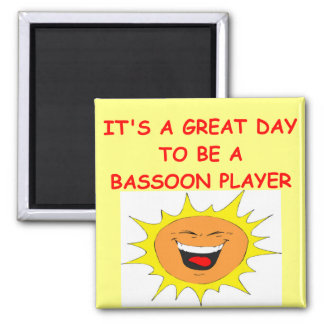 BASSOON 2 INCH SQUARE MAGNET