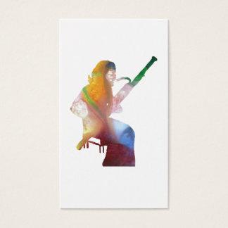 bassoon art business card