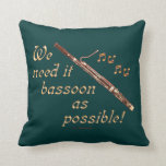 Bassoon as Possible Pillows