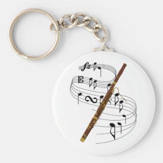 Bassoon Basic Round Button Keychain