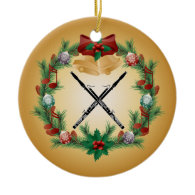 Bassoon Christmas Wreath Music Ornament Gift