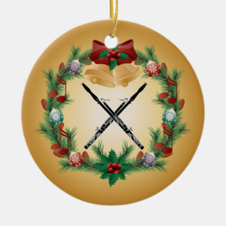 Bassoon Christmas Wreath Music Ornament Gift