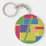 Bassoon Colorblocks Keychain