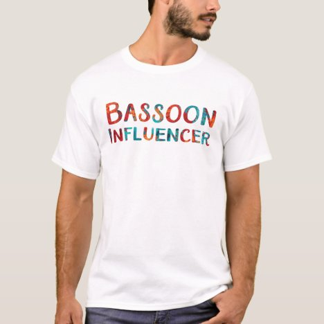 Bassoon Colorful Influencer Music T-shirt