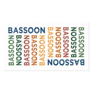 Bassoon colorido tarjetas de visita
