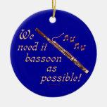 Bassoon como sea posible adorno de navidad