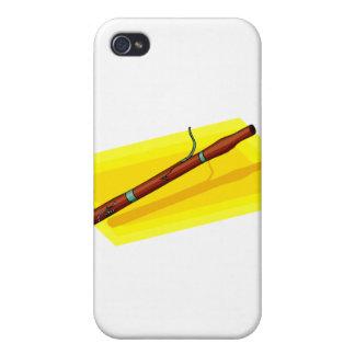 Bassoon con el gráfico amarillo de la imagen de fo iPhone 4 cárcasa