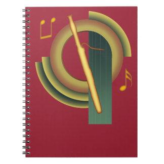 Bassoon de Deco Spiral Notebooks